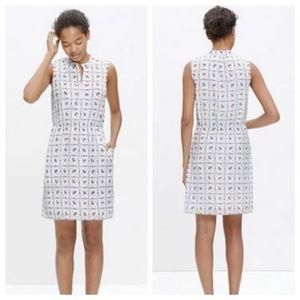 Madewell Dresses - Madewell Paisley White Silk Dress Sz 6
